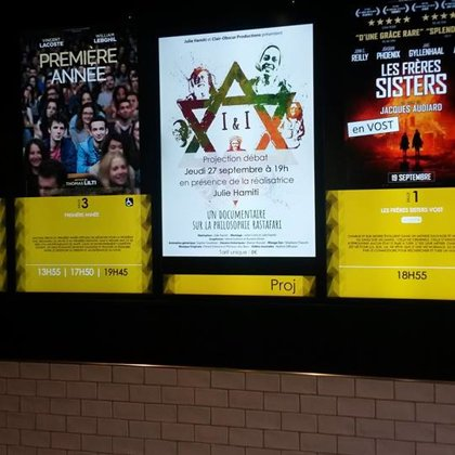 Projections en cinéma et lieux culturels